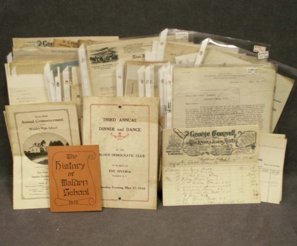 1116: LOT ASSORTED EPHEMERA, ORANGE COUNTY, 19/20TH CEN