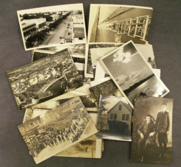 1118: LOT (39) ASSORTED VINTAGE REAL PHOTO POSTCARDS