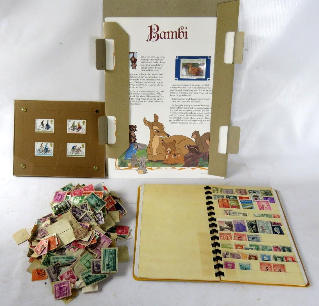 LOT ASSORTED STAMPS, STAMPED COVERS, FIRST DAY COVERS,