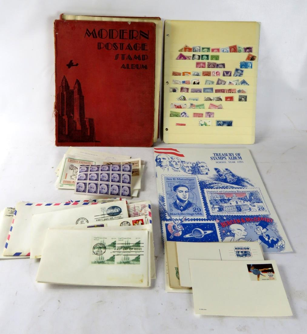 LOT ASSORTED US/FOREIGN STAMPS, ALBUMS, LOOSE, ETC