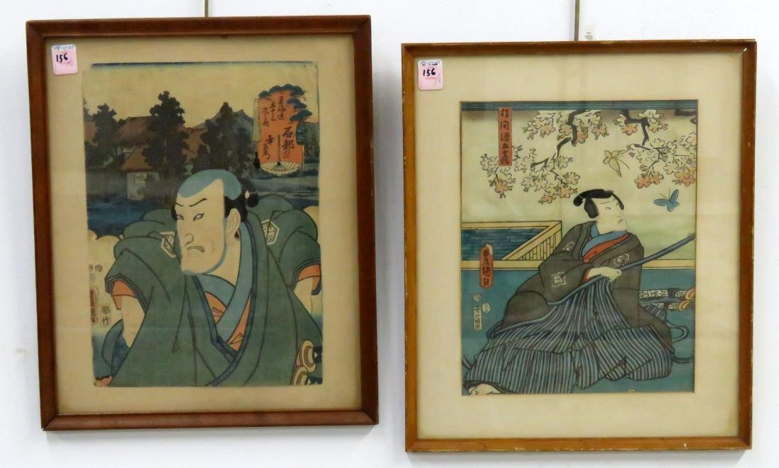 UTAGAWA KUNISADA (JAPANESE 1786-1864), LOT (2)