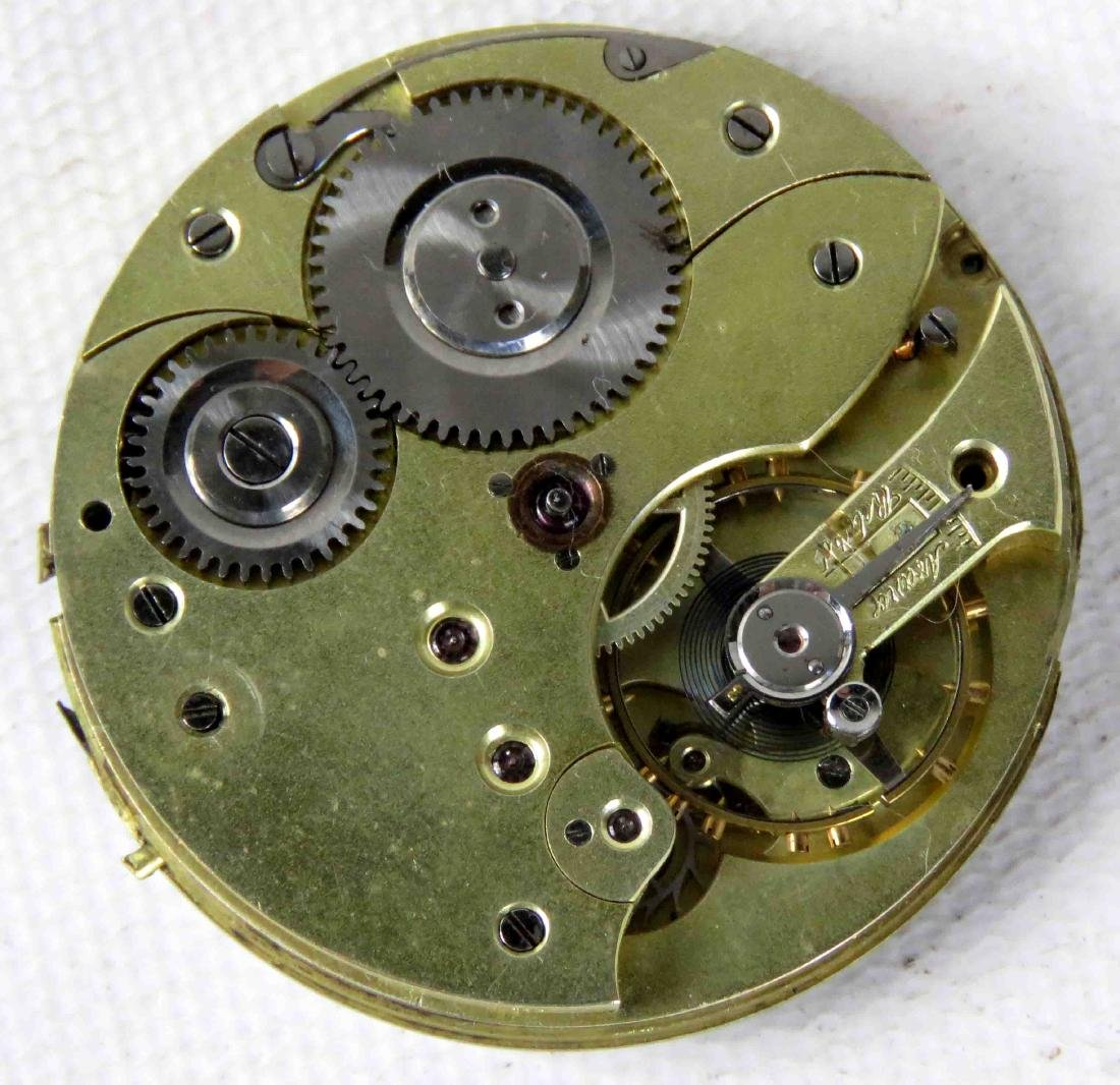VINTAGE JEWELED POCKET WATCH MOVEMENT MAKER OWNED, 19TH - 2