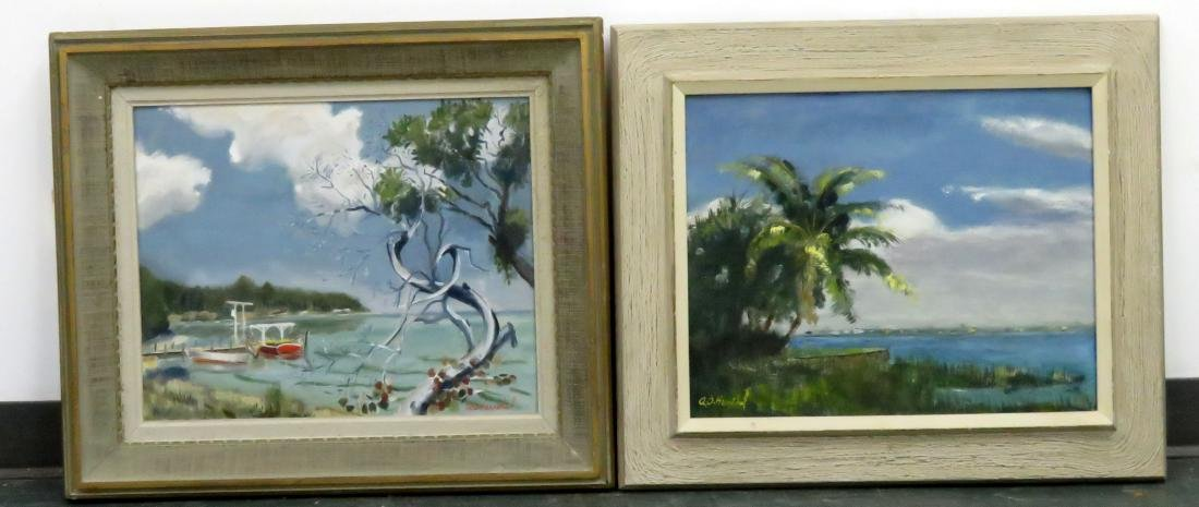 A.O. HURXTHAL (AMERICAN 20TH CENTURY), LOT (2) OIL ON