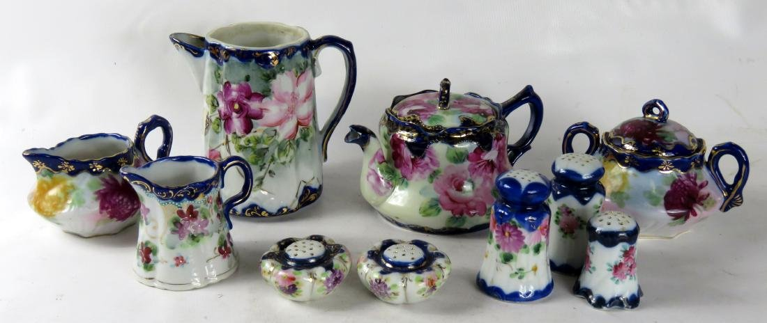 LOT ASSORTED NIPPON DECORATED PORCELAIN INCLUDING