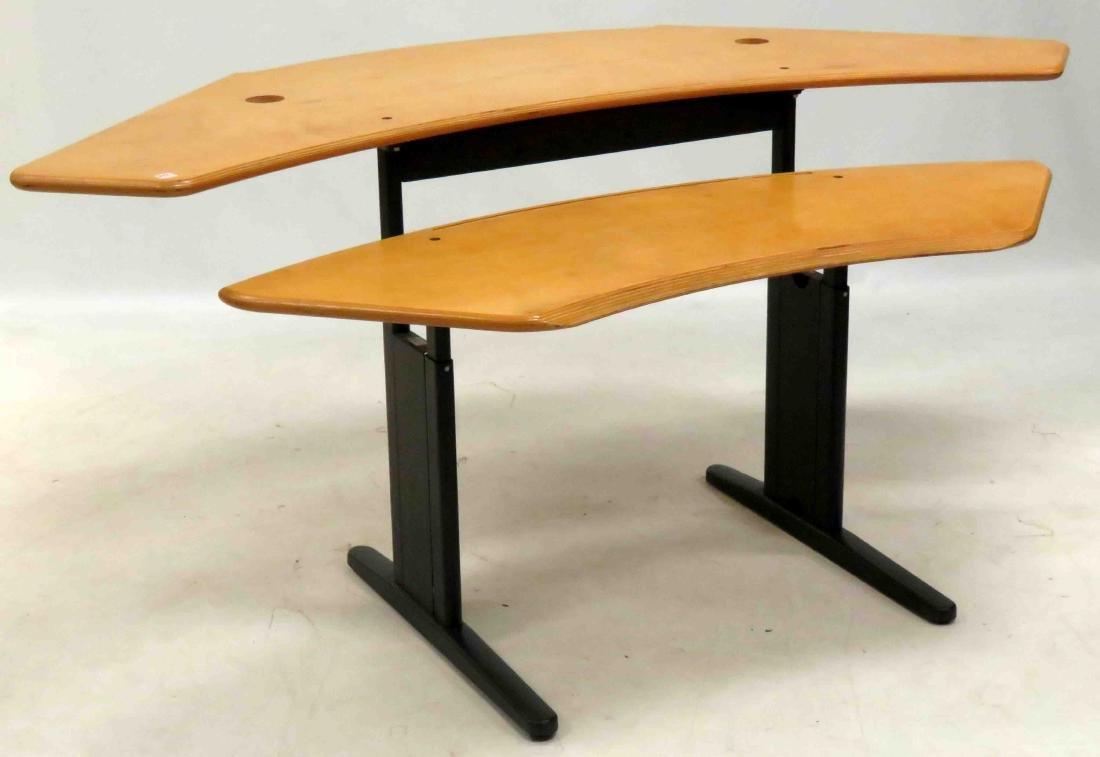 DANISH INDUSTRIAL DESIGN BIRCH/STEEL ADJUSTABLE