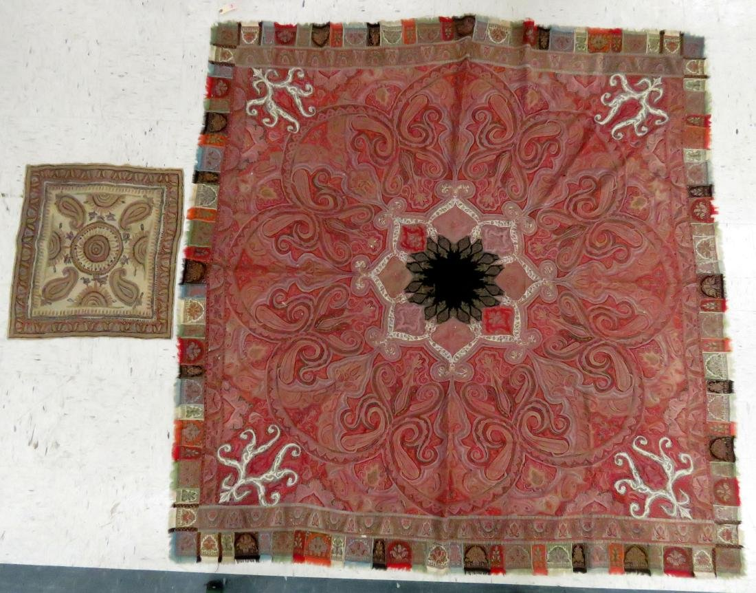 """LOT (2) INCLUDING PAISLEY COVER, 74 X 76"""""""