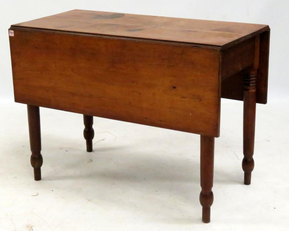 """CHERRY DROP LEAF TABLE, 19TH CENTURY. HEIGHT 29"""";"""