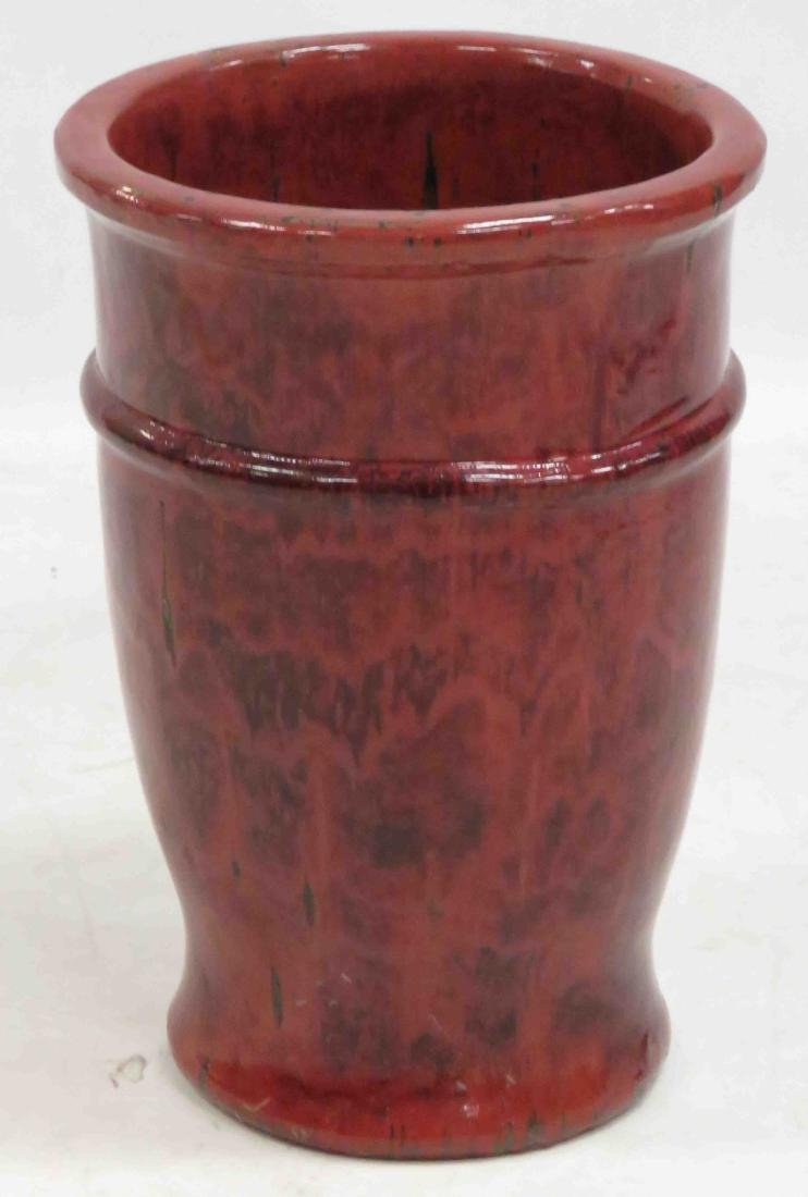 GLAZED STONEWARE CONTAINER. HEIGHT 20 1/2""