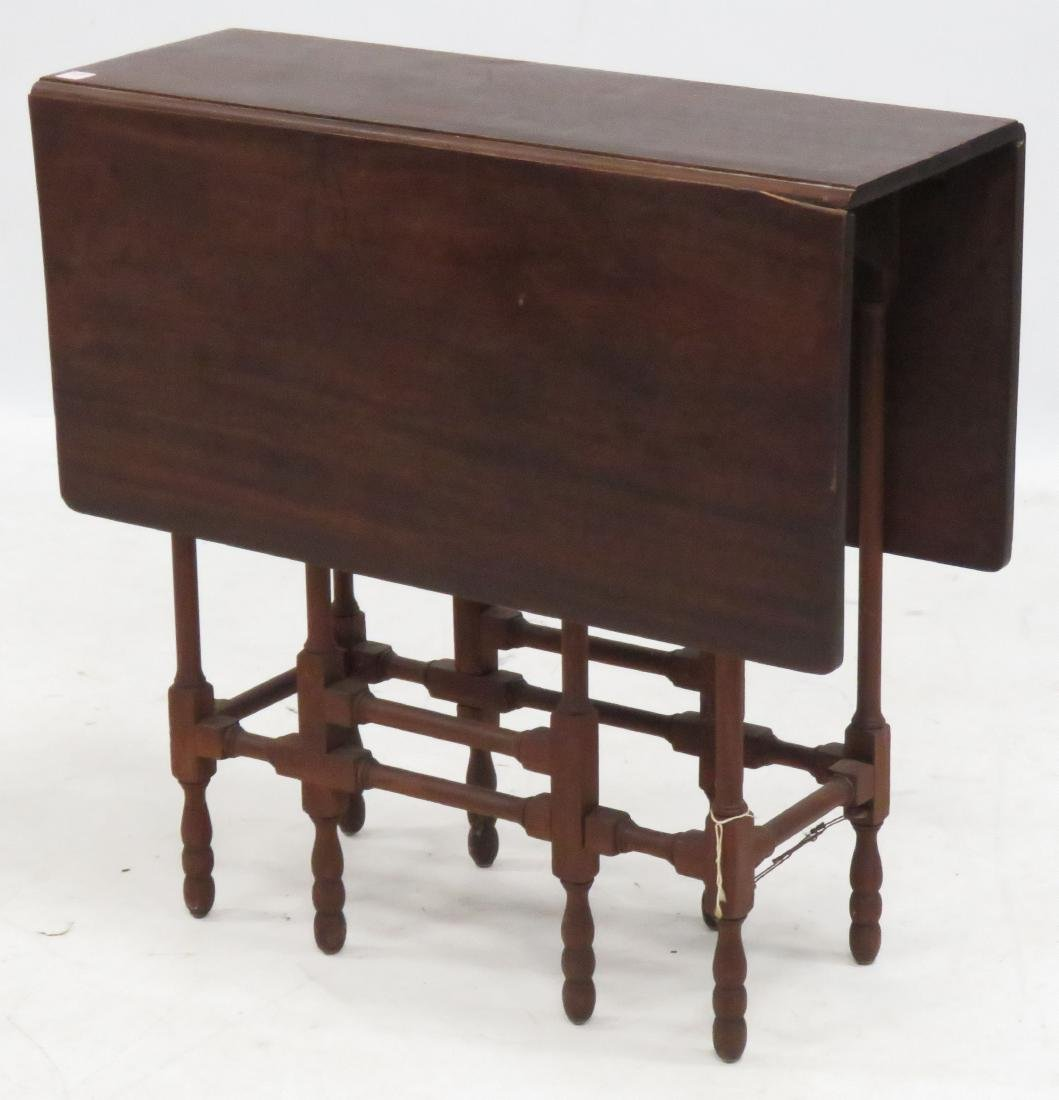 "MAHOGANY GATE-LEG TABLE, 20TH CENTURY. HEIGHT 68"";"