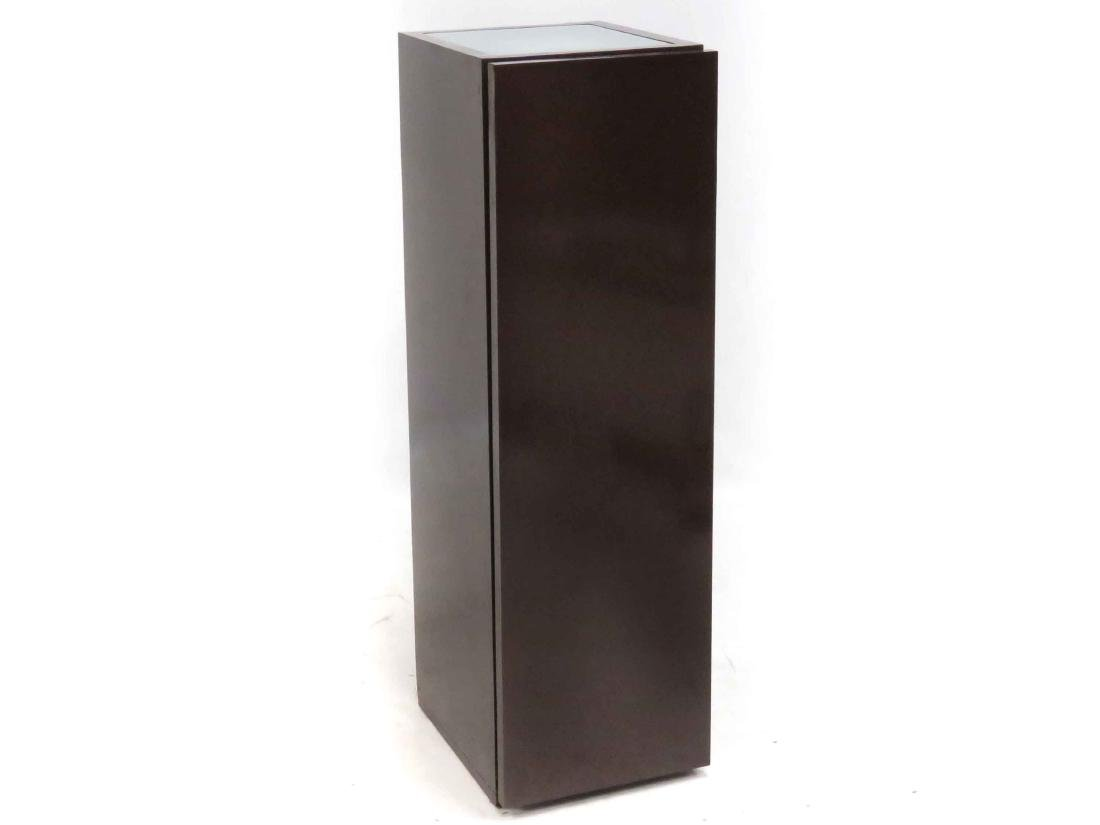 """DESIGNER MODERN CABINET WITH LIGHTED TOP. HEIGHT 51"""";"""