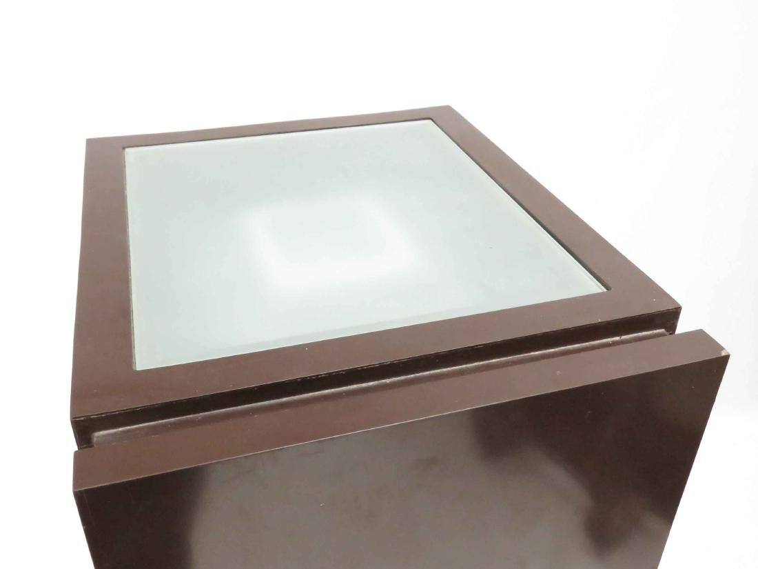 """DESIGNER MODERN CABINET WITH LIGHTED TOP. HEIGHT 51""""; - 2"""