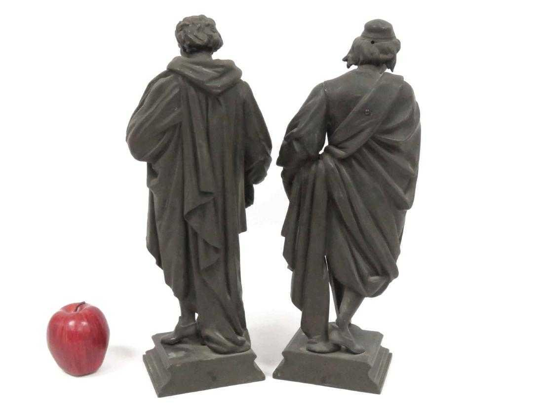 PAIR SPELTER FIGURAL LAMP BASE, CORRECE AND CLERONESE. - 2
