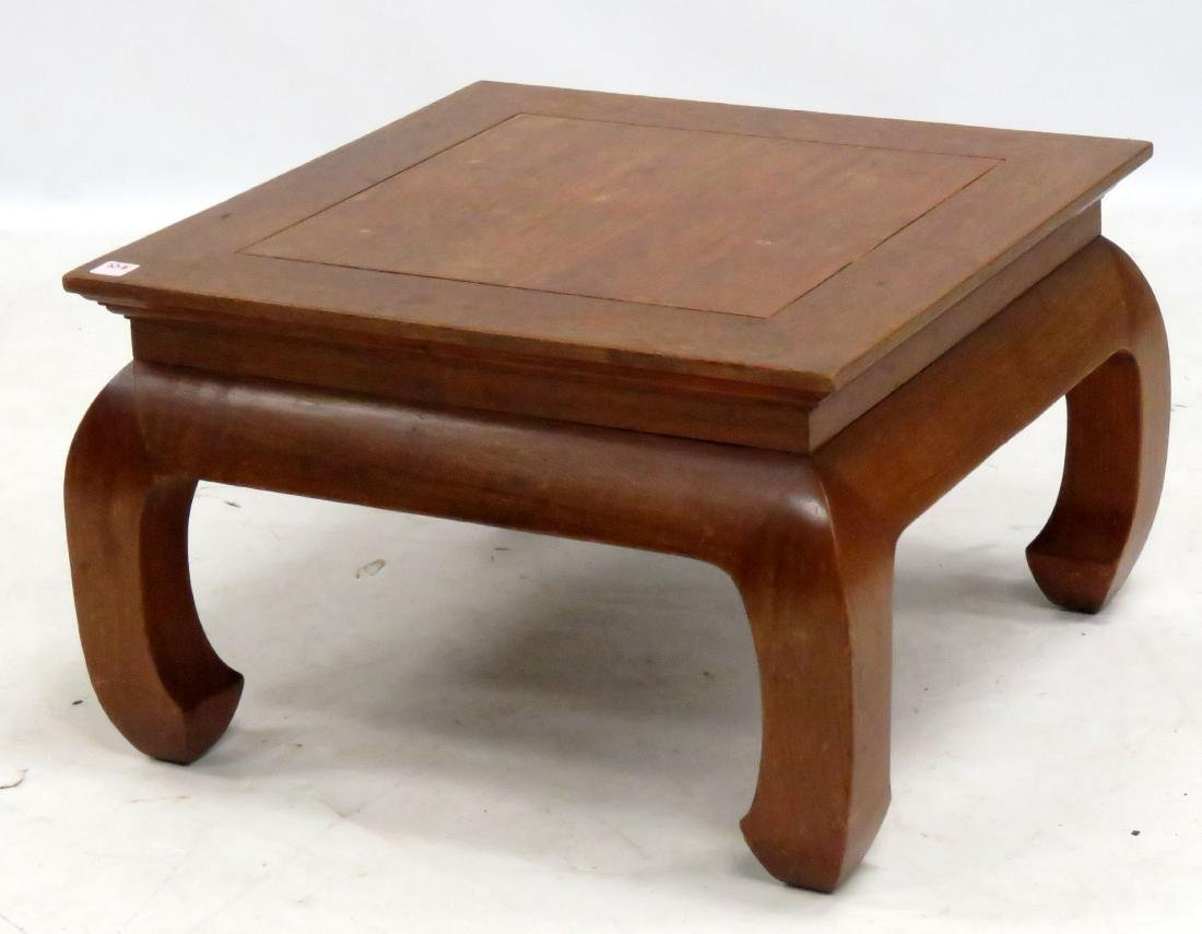 """DESIGNER MODERN CHINESE STYLE LOW TABLE. HEIGHT 14"""";"""
