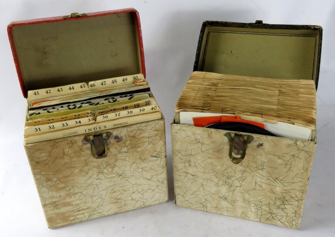 LOT (2) BOXES VINTAGE 45 RPM RECORDS, C.1960'S