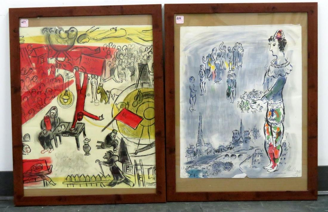 AFTER MARC CHAGALL, LOT (2) LITHOGRAPHS INCLUDING