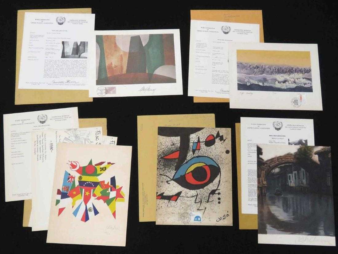 LOT (5) WORLD FEDERATION OF UNITED NATIONS PRINTS (ALL