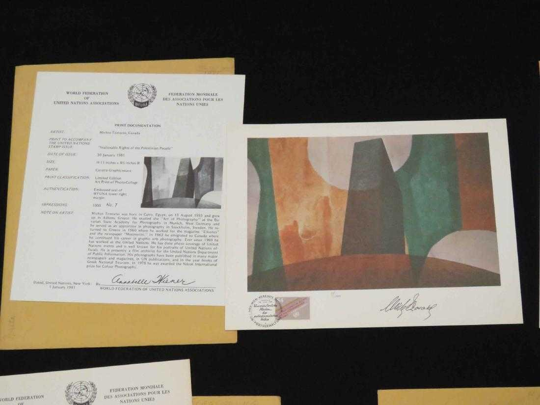 LOT (5) WORLD FEDERATION OF UNITED NATIONS PRINTS (ALL - 2
