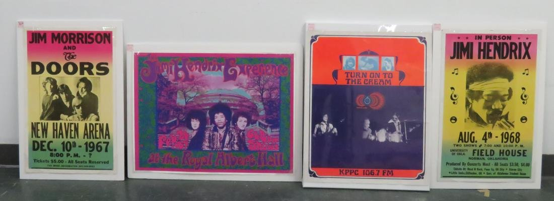 LOT (4) VINTAGE ROCK AND ROLL CONCERT PHOTOS INCLUDING