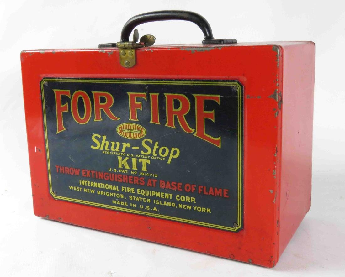 "SHUR-STOP FIRE GRENADE KIT. 8 1/4 X 12 1/4"" (PAINT"