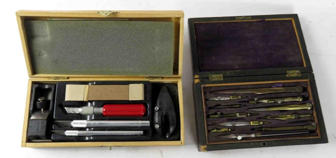 LOT (2) CASED SURVEY TOOLS & X-ACTO TOOLS