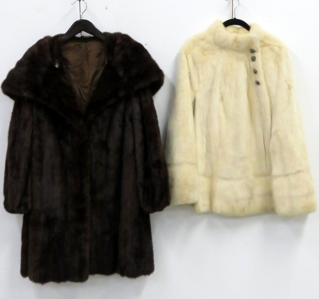 LOT (2) RETRO COATS INCLUDING SHAWL COLLAR MINK &