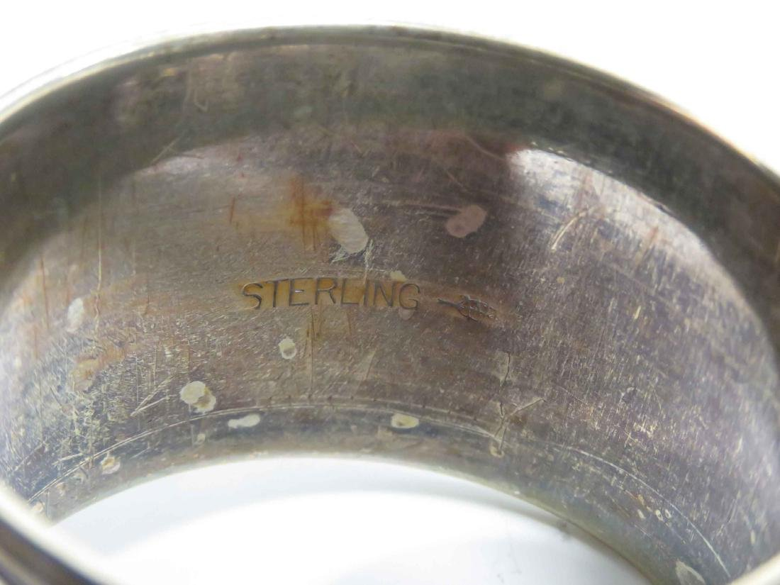 ASSORTED LOT STERLING INCLUDING (7) NAPKIN RINGS & (2) - 3