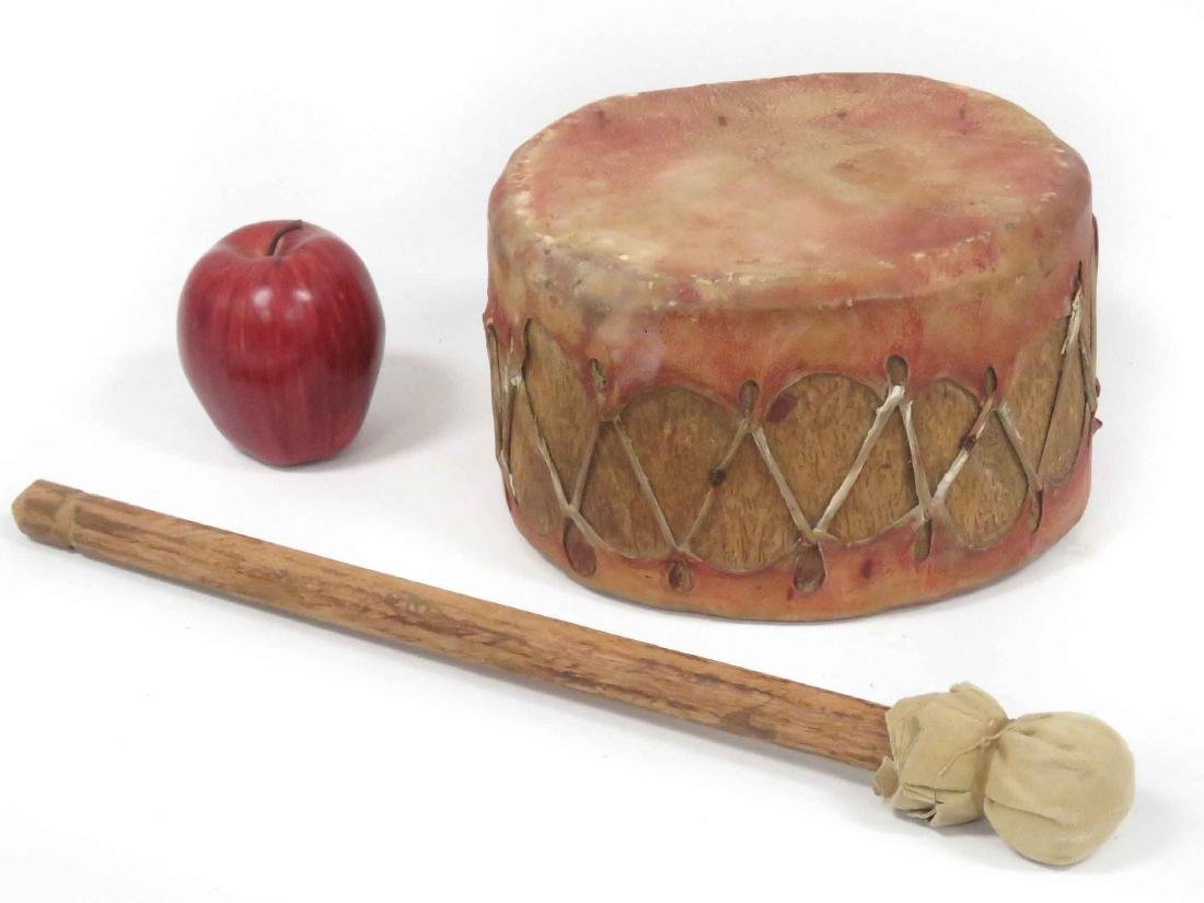 NORTH AMERICAN PLAINS INDIAN CEREMONIAL DRUM WITH