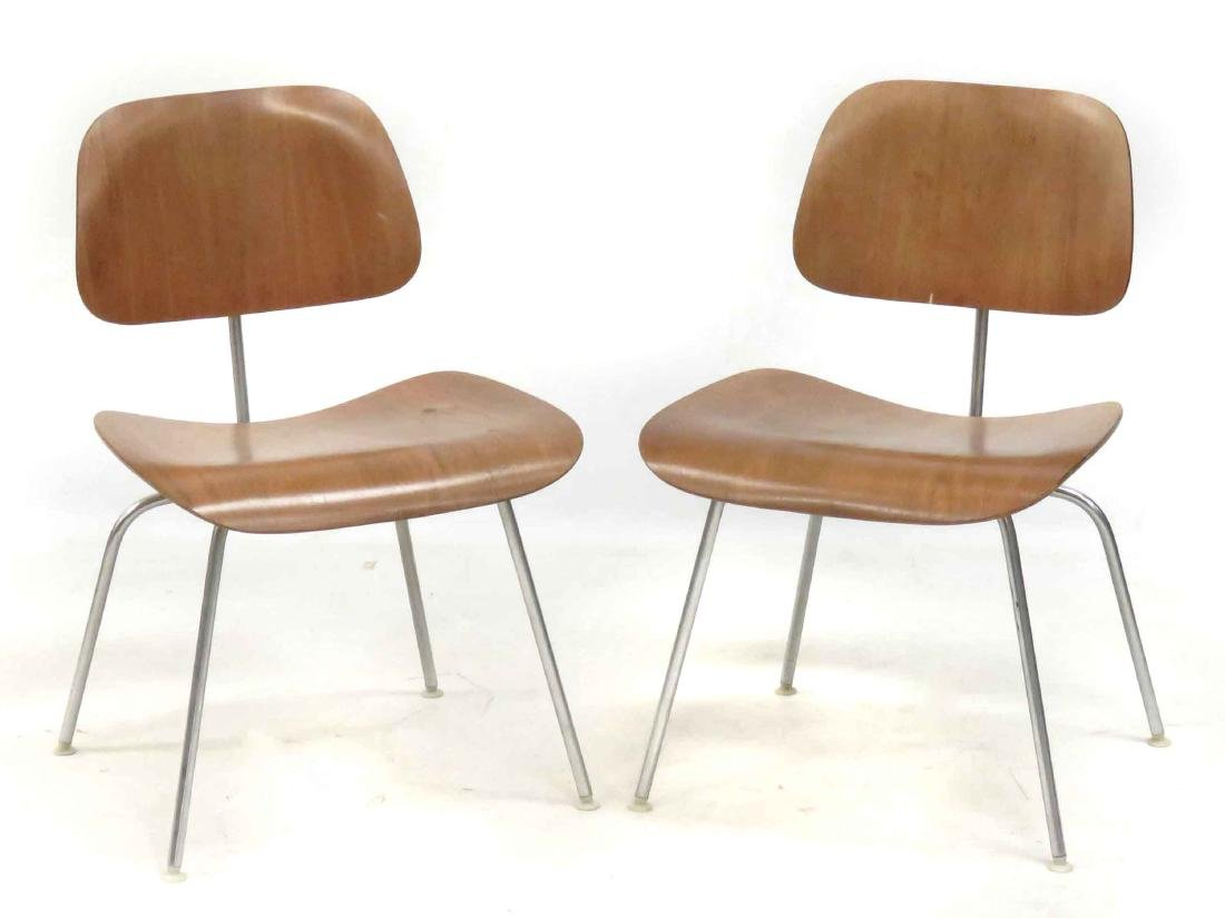 PAIR CHARLES EAMES FOR HERMAN MILLER DCM PLYWOOD SIDE