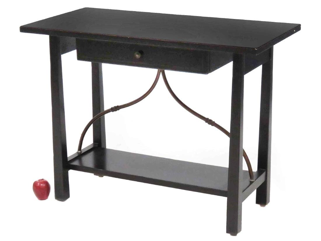 "DESIGNER MODERN PAINTED CONSOLE TABLE. HEIGHT 30"";"