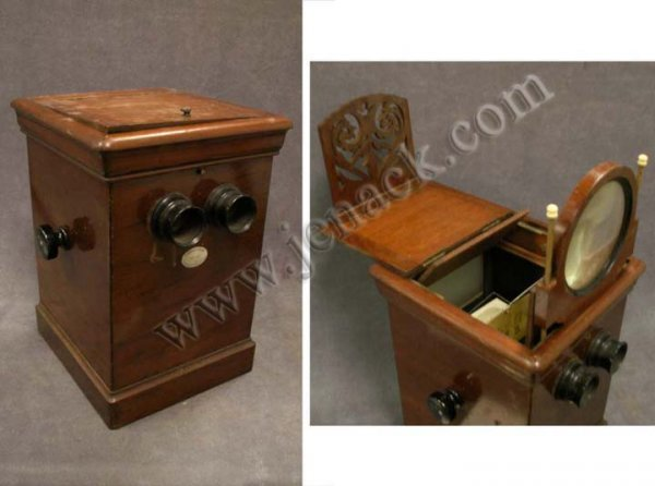 23: FRENCH VICTORIAN STEREO CARD/CABINET CARD VIEWER