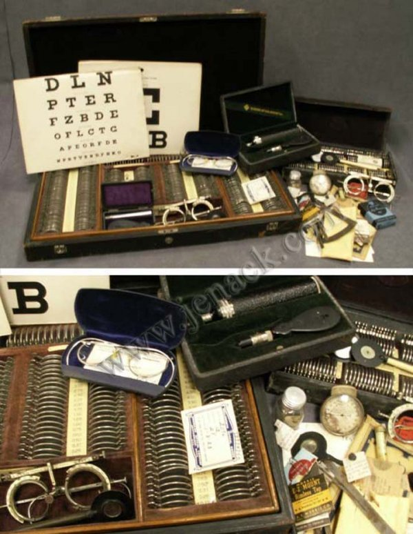 24: LOT ASSORTED VINTAGE OPTICIANS INSTRUMENTS