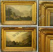 348 PAINTINGS HUDSON VALLEY LANDSCAPE AMERICAN