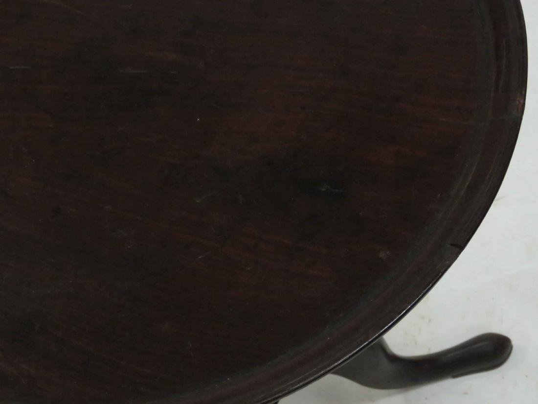 FEDERAL CARVED MAHOGANY DISH-TOP STAND, 19TH CENTURY. - 2