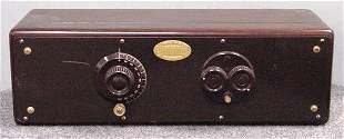 ATWATER KENT MAHOGANY CASED RADIO