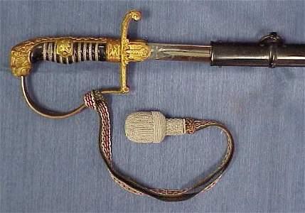 1115: GERMAN WWII DRESS SWORDS/SCABBARD