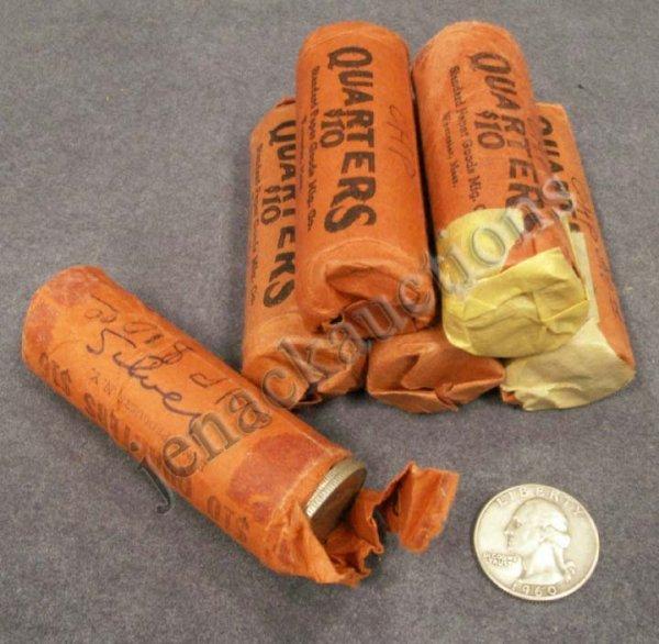 1005: LOT (243) ASSORTED WASHINGTON SILVER QUARTER COIN