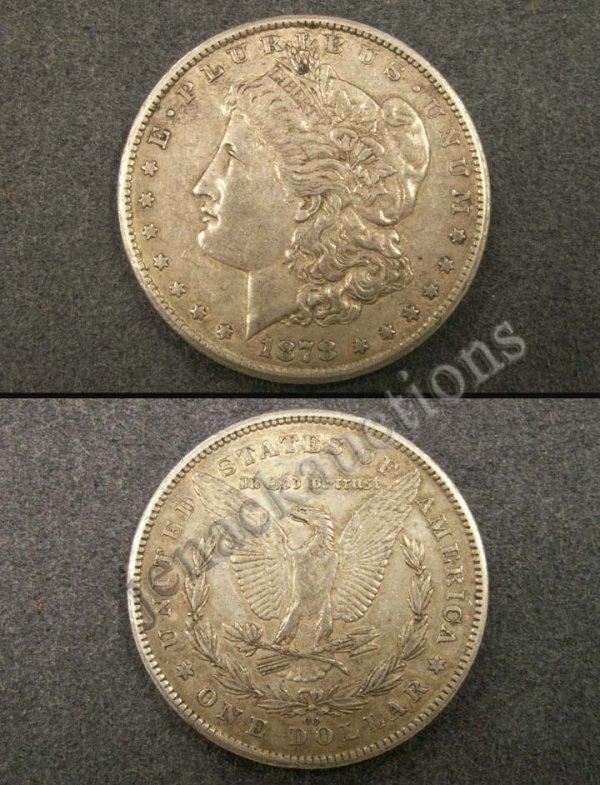 1018: 1878CC MORGAN SILVER DOLLAR (FINE)