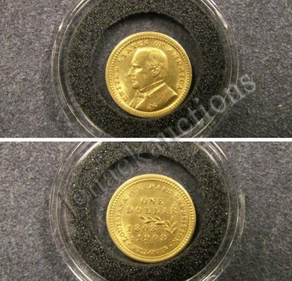 1022: 1903 LOUISIANA PURCHASE-MCKINLEY $1.00 GOLD