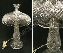 1256 WATERFORD CRYSTAL TABLE LAMP SIGNED