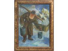 CHAIM GOLDBERG (POLISH/AMERICAN 1917-2004), OIL ON