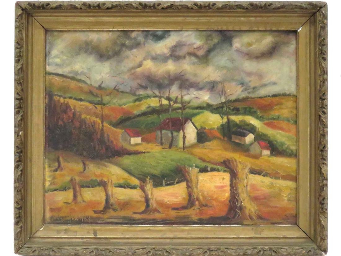 AMERICAN SCHOOL (19/20TH CENTURY), OIL ON ARTIST BOARD,