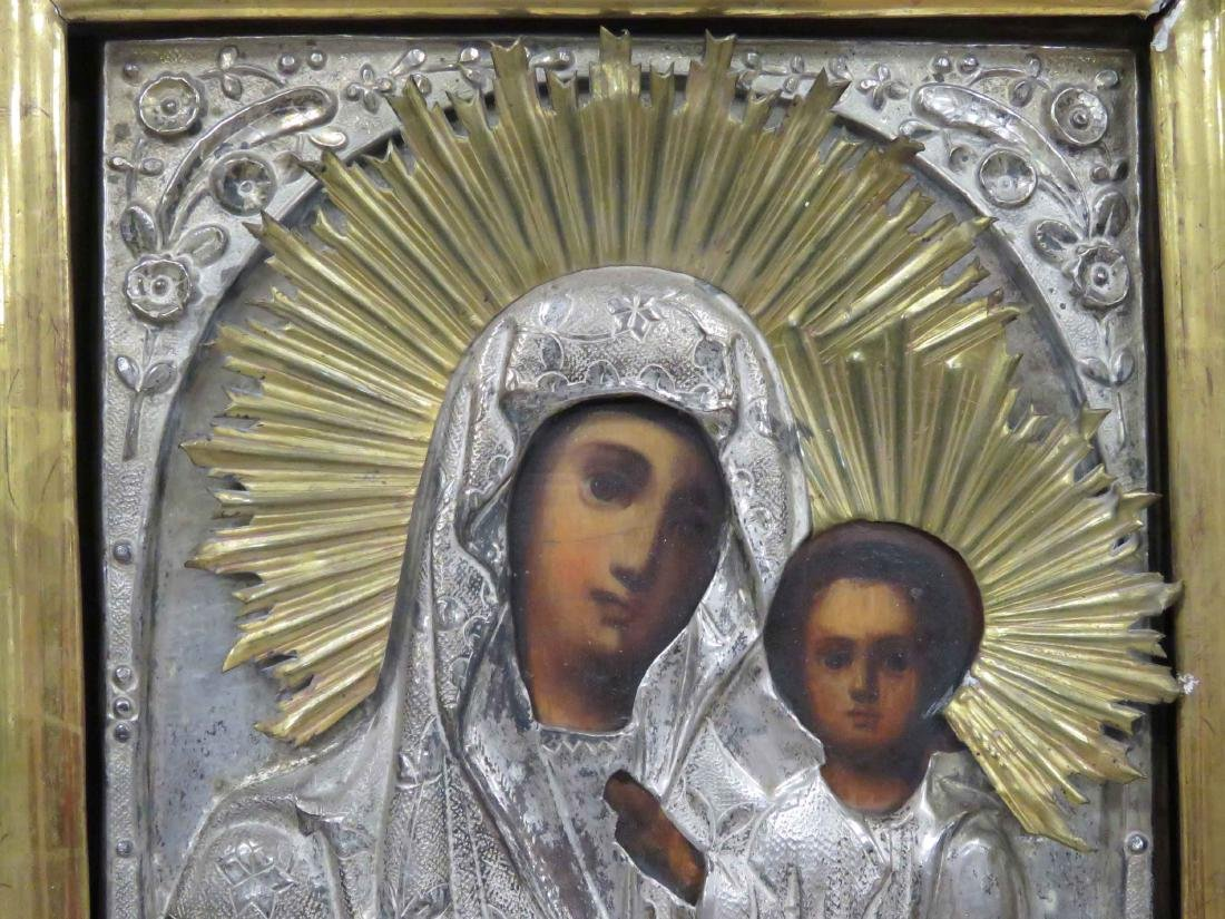 RUSSIAN ICON IVERSKAYA (MOTHER OF GOD) WITH GILT AND - 2