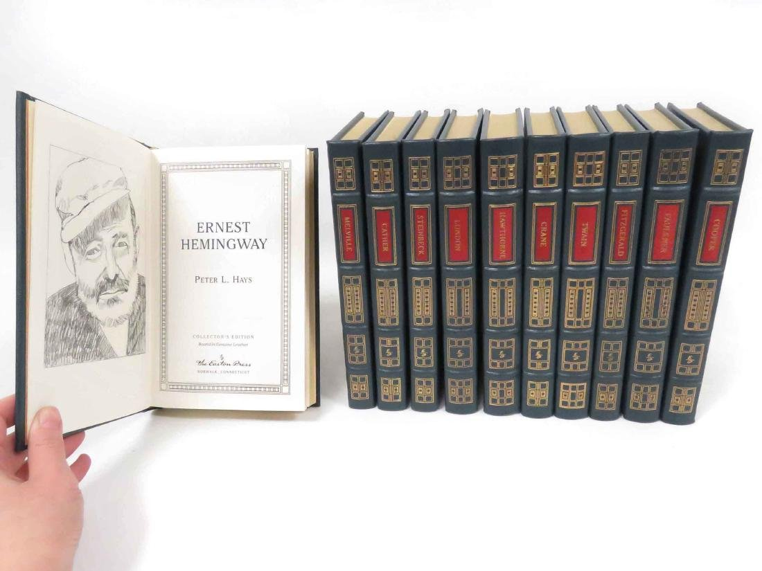 LOT (11) EASTON PRESS TOOLED LEATHER BOUND VOLUMES,