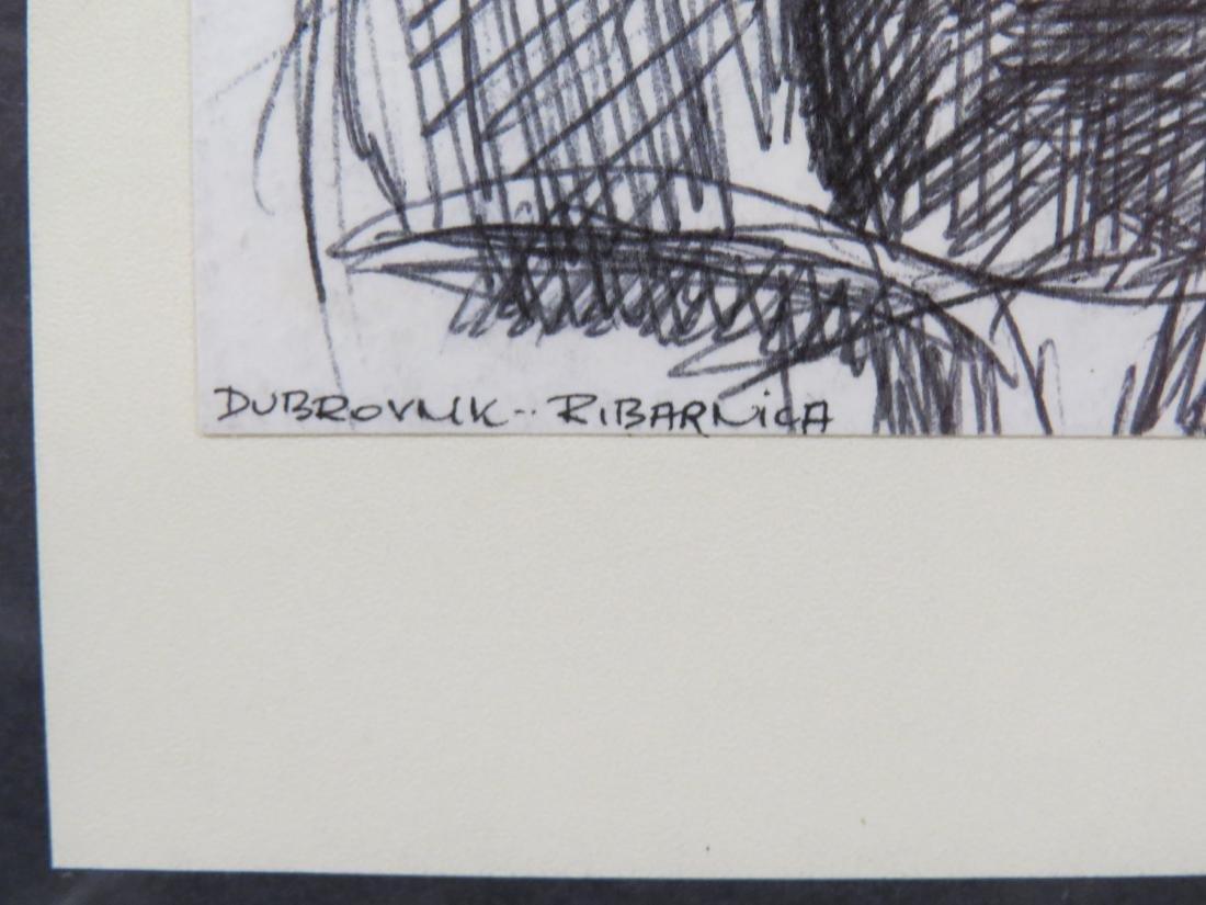 EUROPEAN SCHOOL (20TH CENTURY), INK & MARKER ON PAPER, - 2