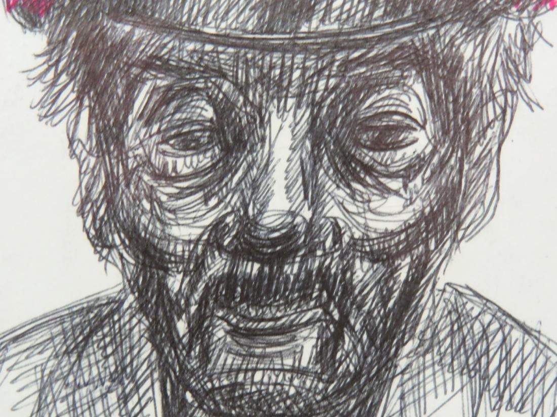 EUROPEAN SCHOOL (20TH CENTURY), INK & MARKER ON PAPER, - 4
