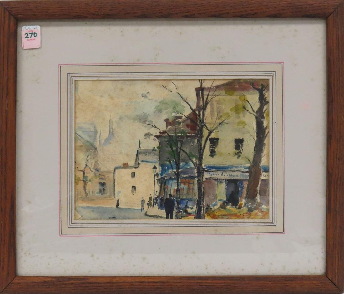 AMERICAN SCHOOL (20TH CENTURY), WATERCOLOR, FRENCH