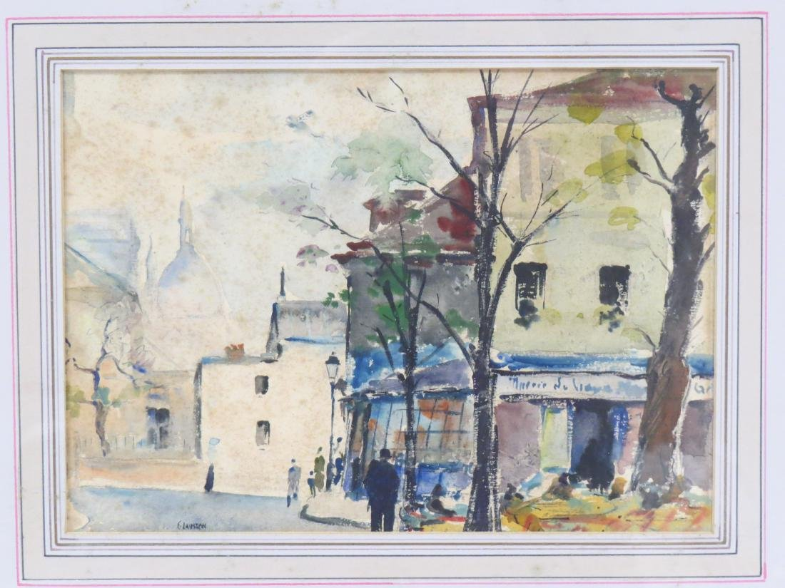 AMERICAN SCHOOL (20TH CENTURY), WATERCOLOR, FRENCH - 2