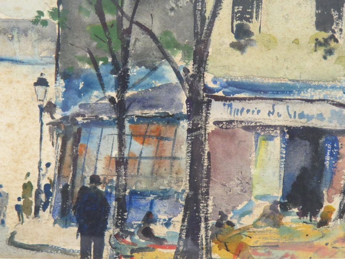 AMERICAN SCHOOL (20TH CENTURY), WATERCOLOR, FRENCH - 4