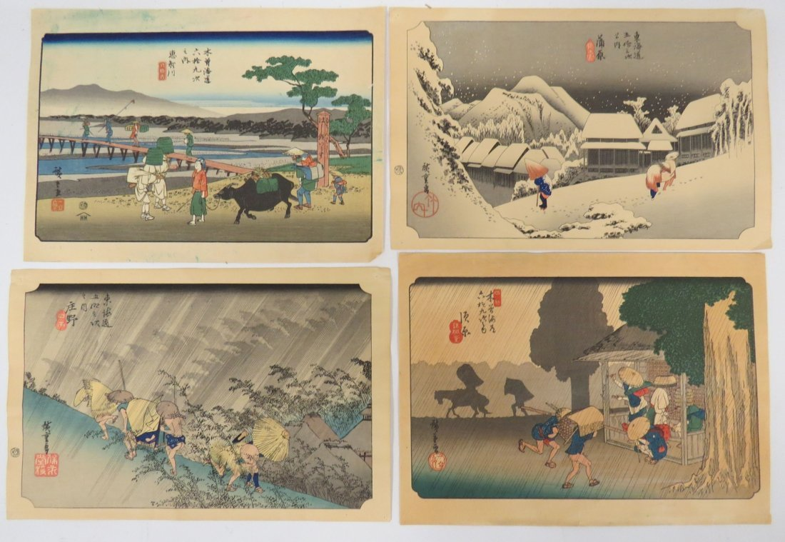 LOT (11) ASSORTED JAPANESE WOODBLOCK PRINTS INCLUDING - 4