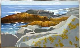 ROBERT ANGELOCH (AMERICAN 1922-2011), OIL ON CANVAS,